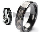 Carbon Fiber Tungsten Carbide Ring
